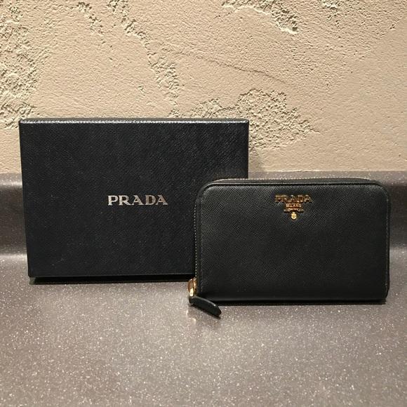 5dc1a123f88a Prada Saffiano Leather French Wallet